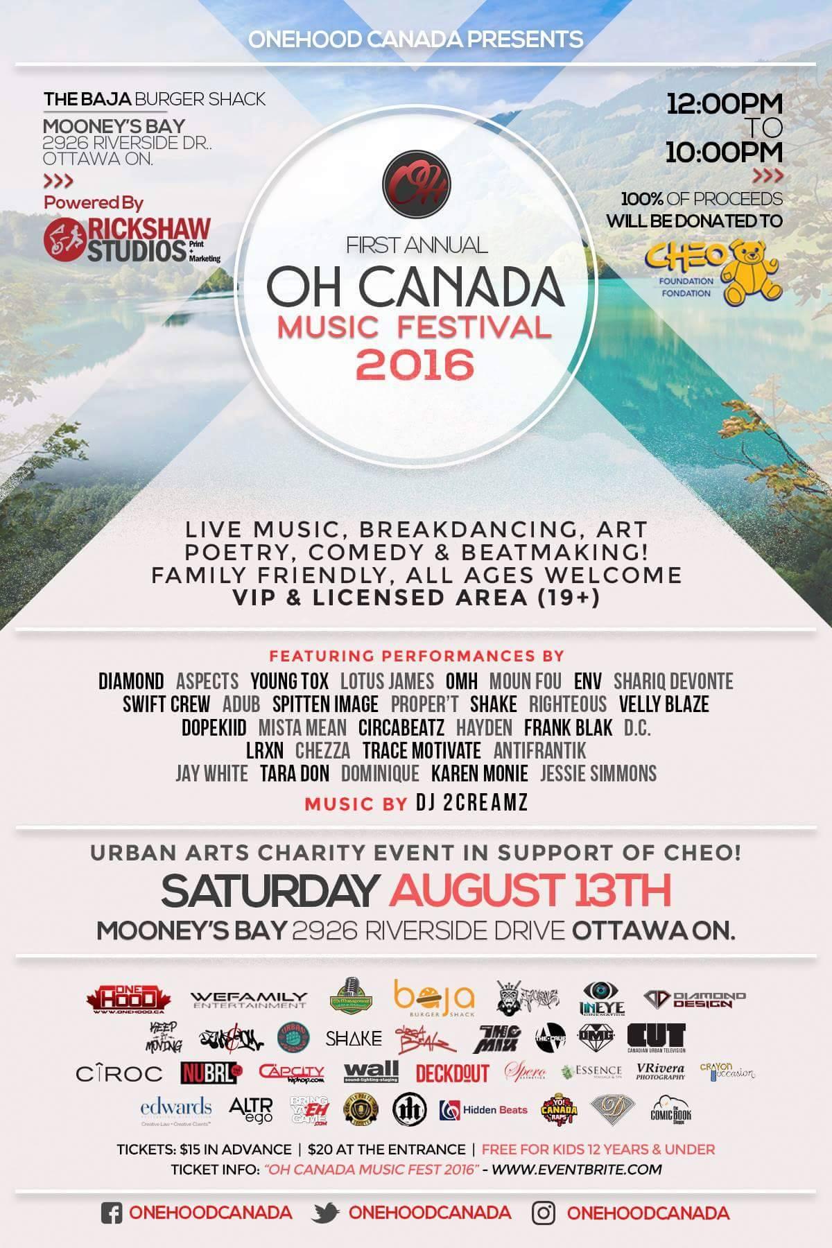 OH CANADA MUSIC & ARTS FESTIVAL
